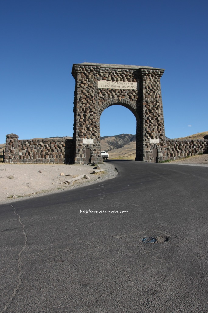 Roosevelt Arch, North Entrance of the Yellowstone National Park