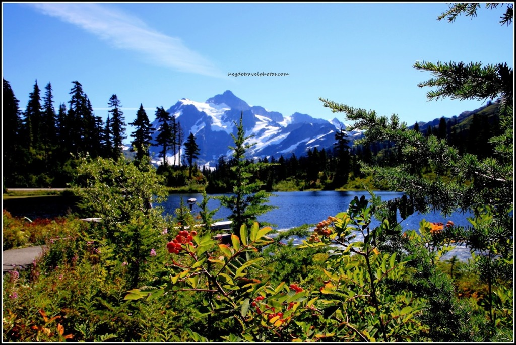 Picture Lake, Mt Baker Highway, North Cascades National Park