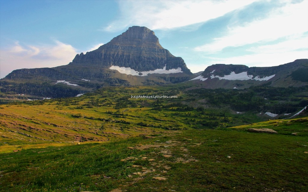 View of Clements Mountain from Hidden Lake Trail, Glacier National Park, Montana
