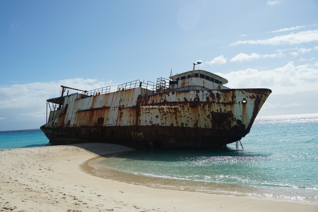 Shipwreck on Governor's Beach, Grand Turks, Turks and Caicos