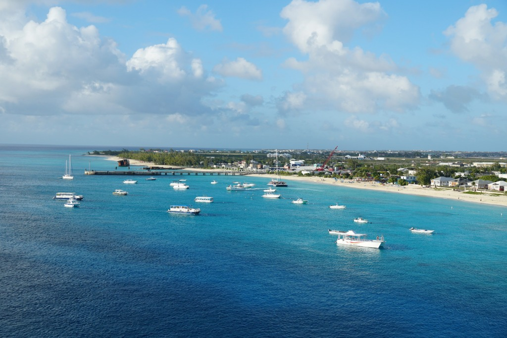 View of Governor's Beach from Cruise, Grand Turks