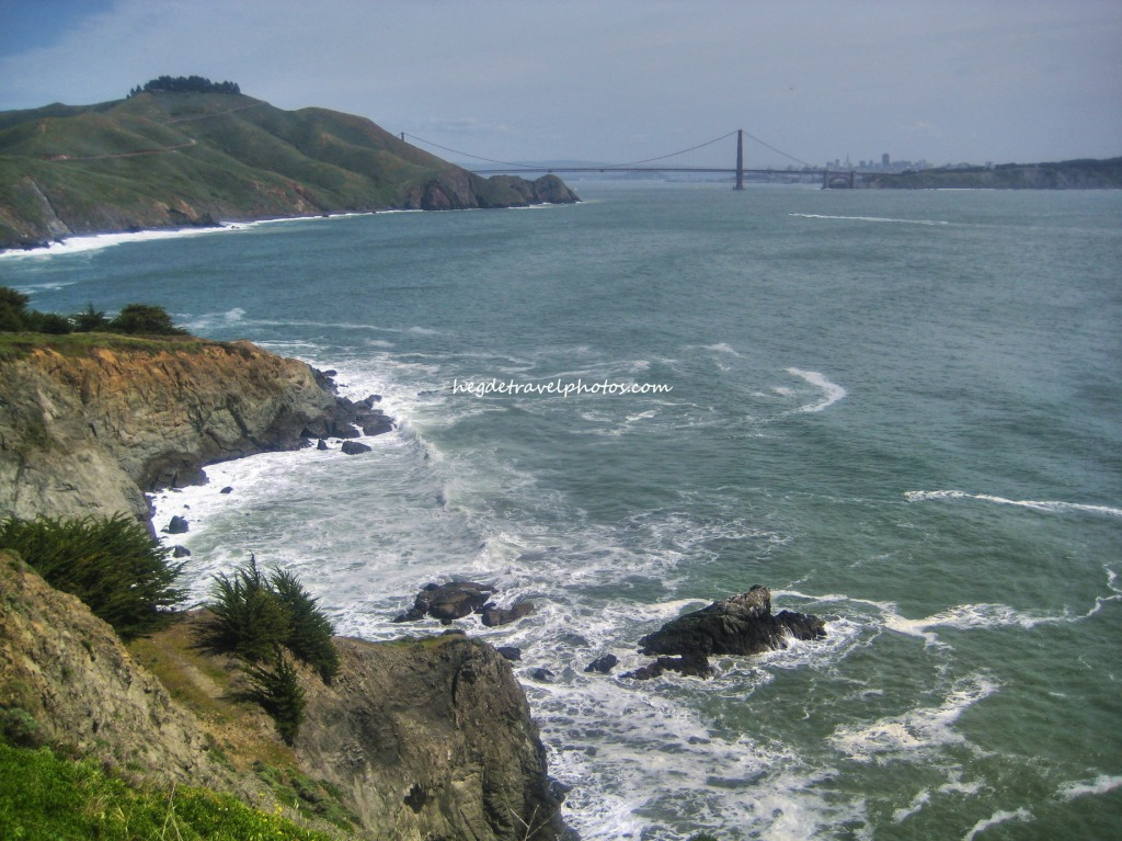 View of Golden Gate Bridge, Point Bonita Trail