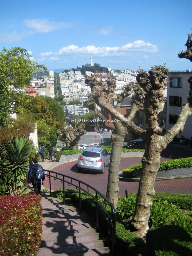 "Lombard Street, known as the ""Crookedest Street"""