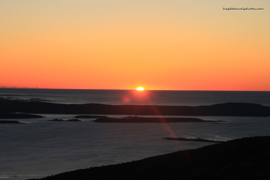 Sunrise at Cadillac Mountain, Acadia National Park, Maine
