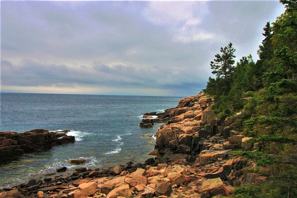 View from Ocean Path, Acadia National Park, Maine