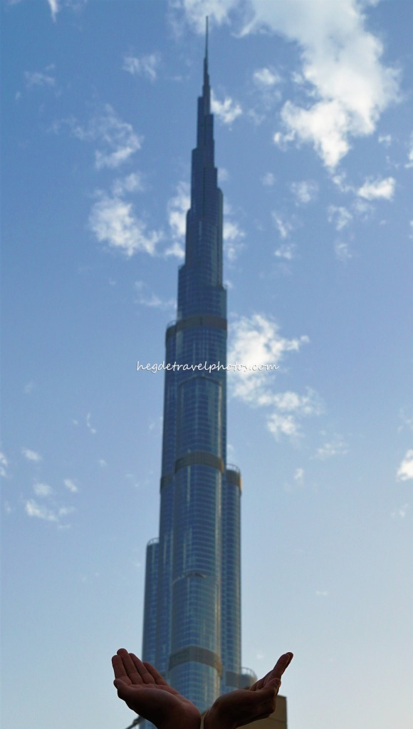 View of Burj Khalifa from outside of Dubai Mall
