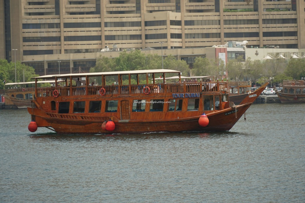 A traditional abra in Dubai Creek