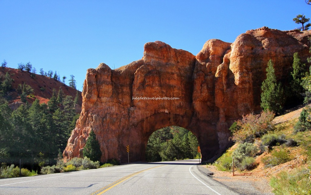 Rock Tunnel through the Red Canyon of Dixie National Forest, Utah