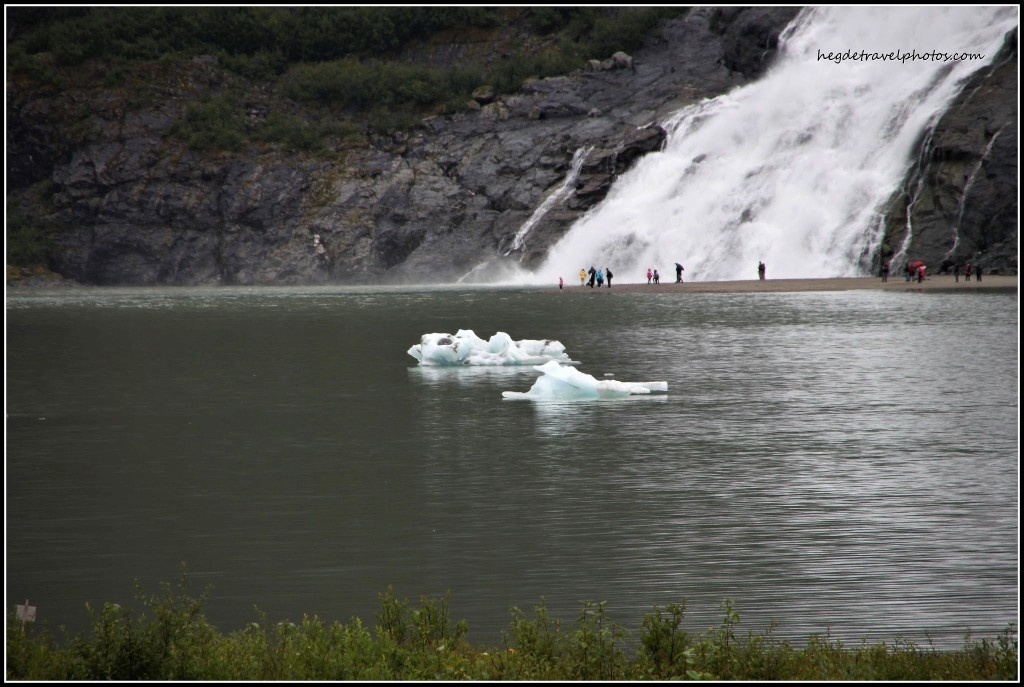Nuggets Falls and Mendenhall Lake, Juneau, Alaska