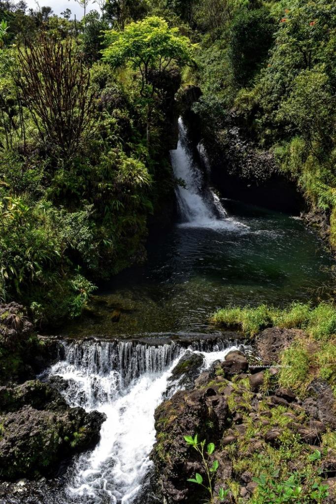 Hanawi Falls, Hana Highway, Maui, Hawaii