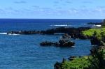Waianapanapa Black Sand Beach, Hana Highway, Maui, Hawaii